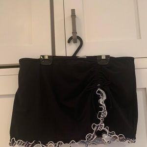 Profile by Gottex Black Side Slit Swim Skirt